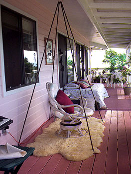 Relaxed lanai seating